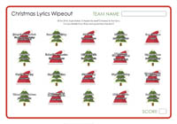 Christmas Lyrics Wipeout