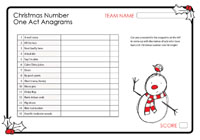 Christmas Number One Act Anagrams