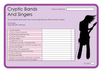 Cryptic Bands And Singers 2
