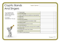 Cryptic Bands And Singers 4
