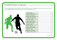 Football Player Anagrams 2