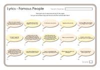 Lyrics - Famous People