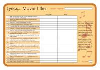 Lyrics - Movie Titles