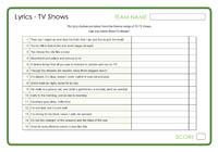 Lyrics - TV Shows 3