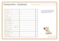 Missing Letters - Dog Breeds