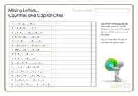 Missing Letters - Countries and Capitals