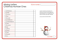 Missing Letters - Christmas Number Ones