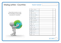 Missing Letters - Countries 3