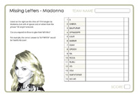 Missing Letters - Madonna