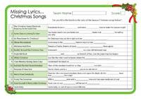 Missing Lyrics - Christmas Songs