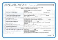 Missing Lyrics - First Lines 3