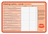 Missing Lyrics - Love