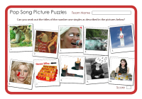 Pop Song Picture Puzzles
