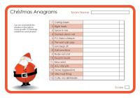 Christmas Anagrams