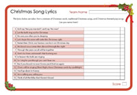 Christmas song lyrics
