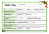 Missing lyrics christmas songs